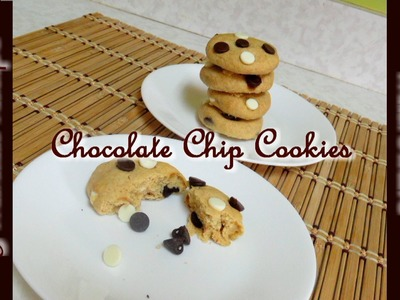 5-Minute Chocolate Chip Cookies no Oven Video Recipe by Bhavna - Eggless