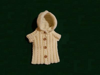 Cappottino da neonato all'uncinetto - tutorial crochet baby coat