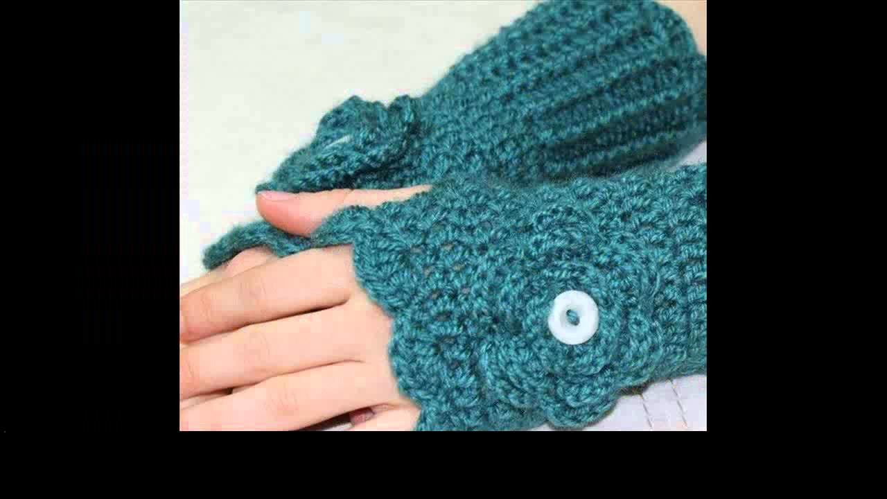 Crochet gloves with fingers