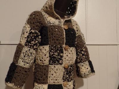 Crochet Granny Square Coat Jacket #TUTORIAL