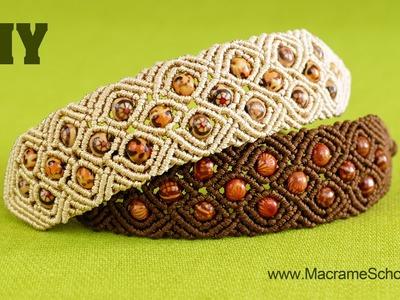 Diamond Square Bracelet - Macrame Tutorial