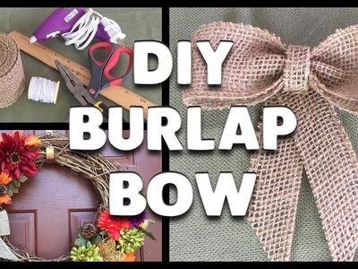 DIY | How to Make a Burlap Ribbon Bow!