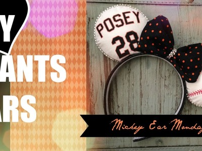 DIY SF Giants Baseball Minnie Ears CUSTOM!!!