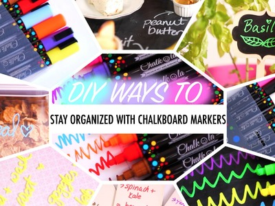 DIY Ways to Stay Organized with Chalkboard Markers