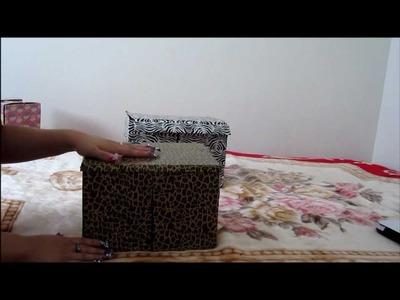 ENGLISH~ DIY: ZEBRA BOX
