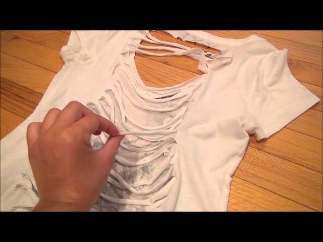 How To: Cut and Weave Your Shirt (Braid)