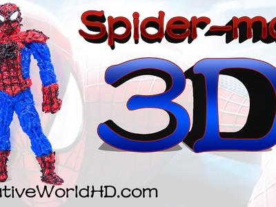 How to Make Spiderman - 3D Printing Pen Creations.Scribbler DIY Tutorial.Creative World