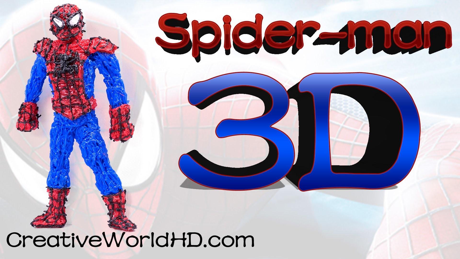How to Make Spiderman - 3D Printing Pen Creations.Scribbler DIY Tutorial.Creative World