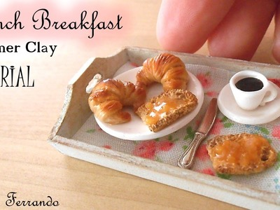 Miniature Polymer Clay French Inspired Breakfast Tutorial | Maive Ferrando