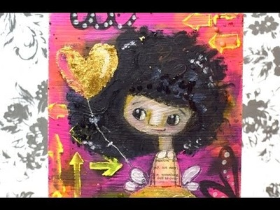 Mixed Media Fairy for Faber-Castell Design Memory Craft