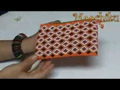 Moochiku Paddy Field Two Beaded Mini Purse