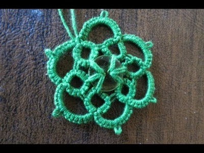 Needle Tatting Pendant with a button