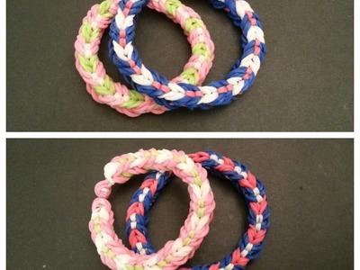 """New Reversible """"Hugs n Kisses"""" Rainbow Loom Bracelet. How To Tutorial"""