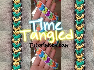 Rainbow Loom TIME TANGLED Bracelet tutorial HOOK ONLY|Tutorialsbyleaa