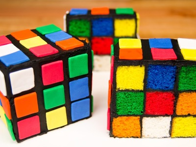 Rubik's Cube Cake from Cookies Cupcakes and Cardio