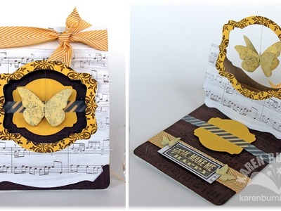 Stampin' Up! Pop 'n Cuts Flying Easel Card