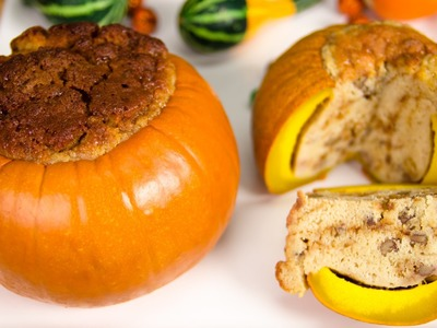 Toffee Pecan Cake in a Pumpkin from Cookies Cupcakes and Cardio