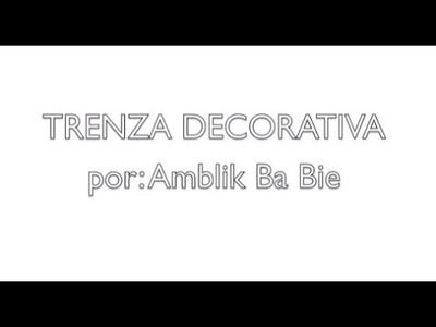 Trenza Decorativa Tejida a Dos Agujas HD