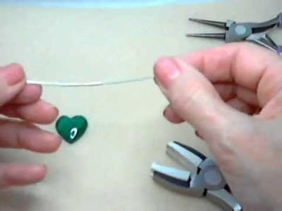 Wire-wrapped 20mm Malachite Heart Pendant