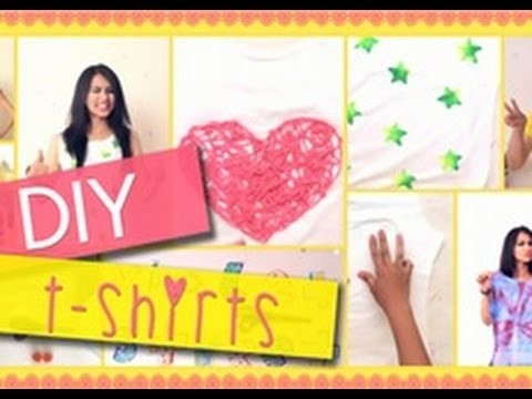 3 SUPER EASY Ways To Transform Your Boring White T-Shirt : DIY Style File