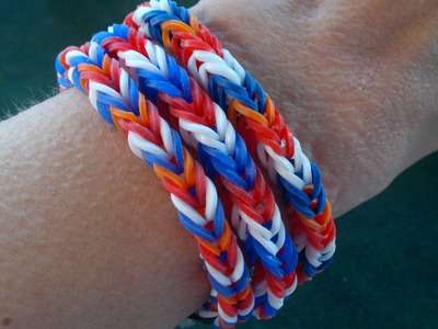 Beading4perfectionists : Loom with rubber band #3 : Bands test & herringbone stitch