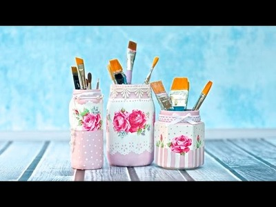 Decoupage jar tutorial for beginners  DIY
