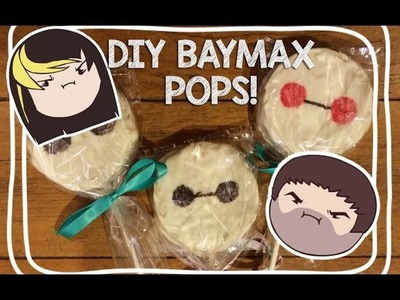 DIY - Cooking With The Grumps - Baymax Rice Crispy Pops!