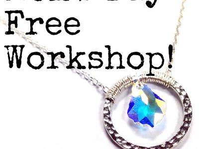 DIY Crystal in Circle Necklace