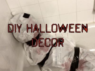 DIY easy last minute halloween decorations