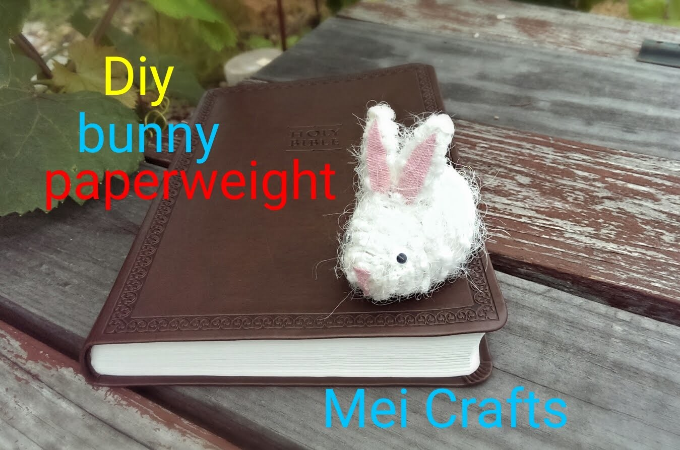 Diy: how to make a bunny paperweight