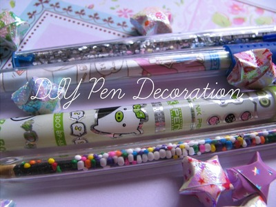 DIY Kawaii Pens; Back to School
