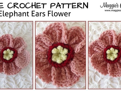 Elephant Ears Free Crochet Pattern - Right Handed