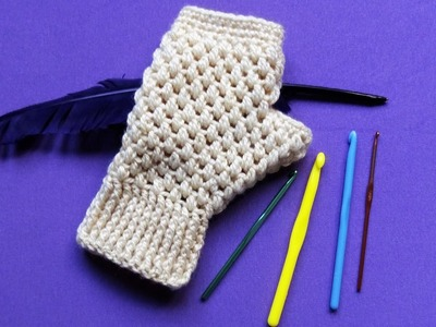 Heklane rukavice bez prstiju (Crochet Fingerless Gloves) - Pletenje 32
