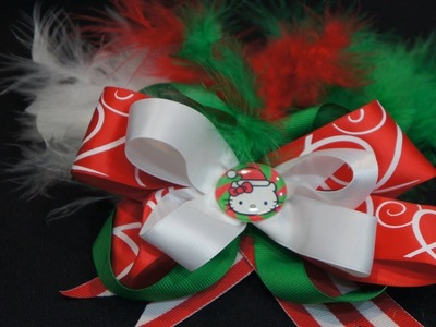 Hello Kitty Christmas Boutique Hair Bow Tutorial