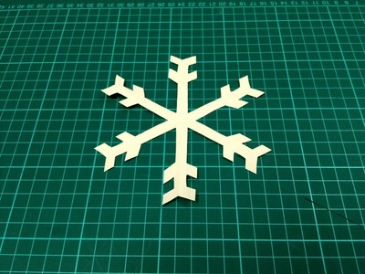 How to make a simple and easy paper snowflake - 2