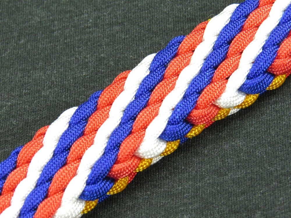 How to make a (Spirit of) 1776 Sinnet Paracord Bracelet Tutorial (Paracord 101)