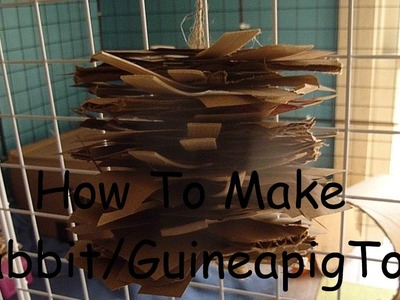 How to make rabbit.guineapig-hanging chew toy