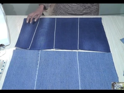 How to make flat fabric from old jeans. Recycle Reuse