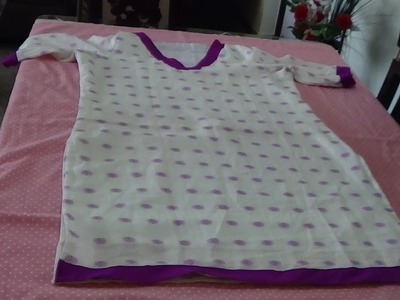 How To Stitch Lining For Kurti