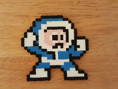 Ice Man  - Time Lapse (Mega Man 1 - Perler Bead Art)