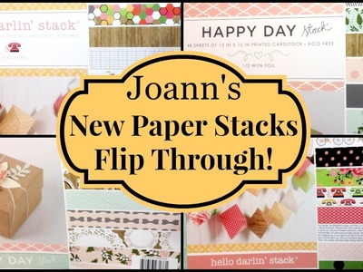 Joann's Haul. New DCWV Paper Stacks Flip Through!