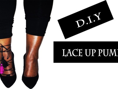Lace Up Shoe DIY