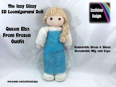 Loomigurumi Izzy Bizzy Doll - Elsa Dress - hook only - amigurumi with Rainbow Loom Bands