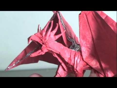 Making of Origami Dragon (Kamiya Satoshi ancient dragon)