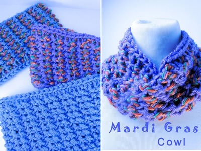 Mardi Gras Cowl Part 1 Left Handed