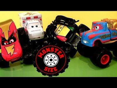 Monster Truck Mater Cars Toons Toys Tormentor & Frightning McMean Lightning McQueen 2013 Disney