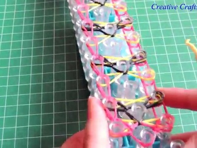 Pulsera de Mickey Mouse con gomitas. Modelo 1. Rainbow Loom Mickey Mouse bracelet.