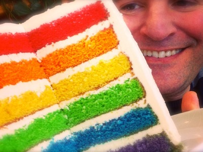 Rainbow Cake: Great results, easy to follow