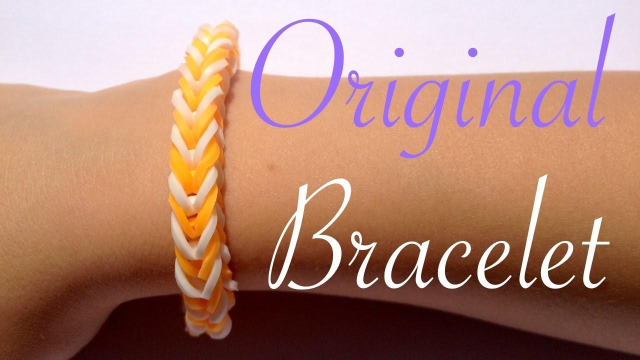 Rainbow Loom  - Original French braid Bracelet  - Tutorial How to (Easy tuto facile français)