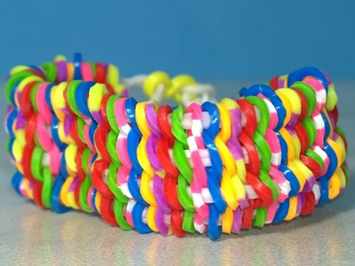 Rainbow Loom WILLIS Bracelet on Two Forks. No loom! Willis Armband. DIY